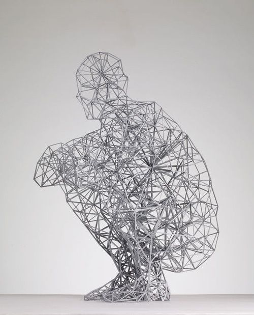 Antony Gormley. i love this sculpture as represents the human form in a way that makes you think of the feeling the sculpture may be showing. This inspires me as I've always had a interest in the human form.