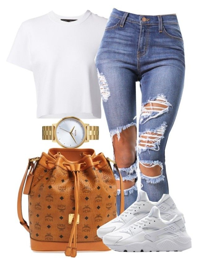 """Day Out With Moms! <3"" by bria-myell ❤ liked on Polyvore featuring Proenza Schouler, Nixon, MCM and NIKE"