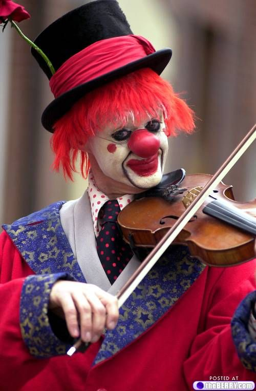 Some clowns have musical talents....maybe