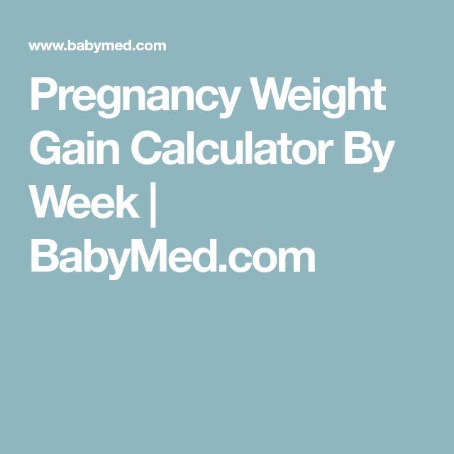 Pregnancy Weight Gain Calculator By Week | BabyMed.com
