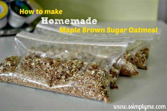How to make Maple Brown Sugar Oatmeal Mix