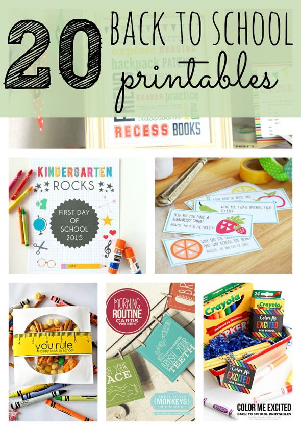 a Great list of going back to school Printables - Kid Interview, First Day of School printable signs, lunchbox notes, etc.