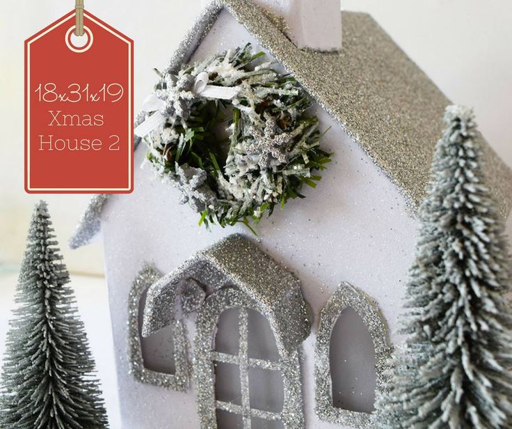 Close up of Glitter Church at Irene and Nicki Crafts!