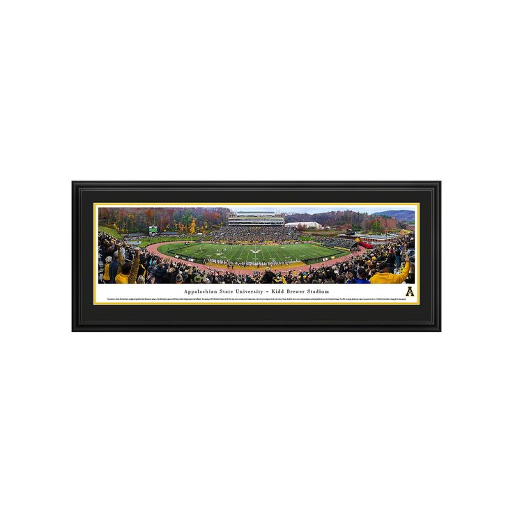 Appalachian State Mountaineers Football Stadium Framed Wall Art, Multicolor