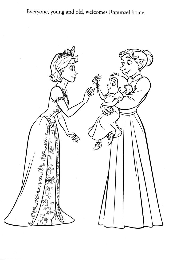 1554 best coloring images on pinterest tangled disney - Coloriage raiponce disney ...