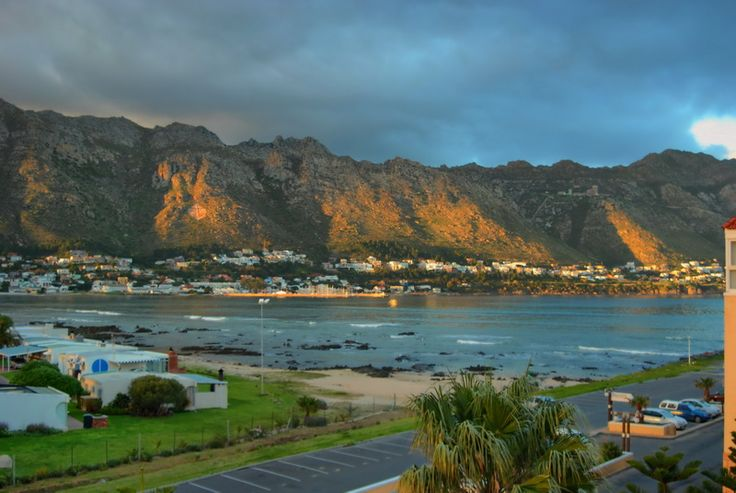 A view of Gordons Bay from Harbour Island development - South Africa.
