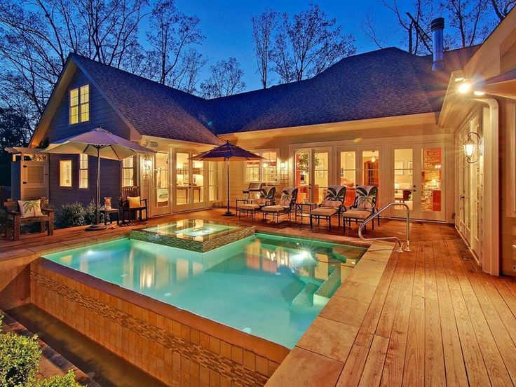 17 best images about house ideas on pinterest green for U shaped house plans with pool