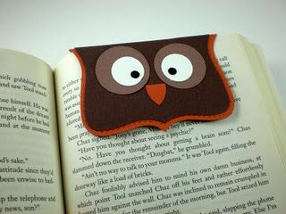 Owl bookmark - CUTE!