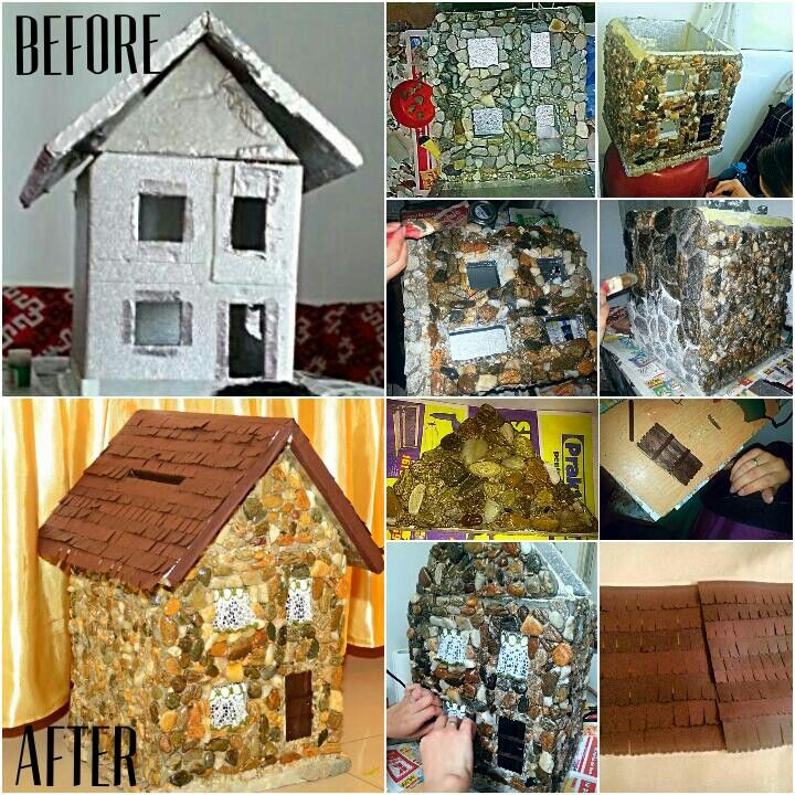 DIY -  Wedding house, card holder, money box