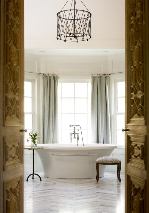 Bathroom Window Curtains Over Tub