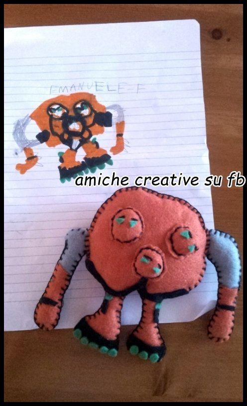 Il tuo pupazzo personalizzato dal disegno del tuo bambino !, by Amiche Creative,  su misshobby.com