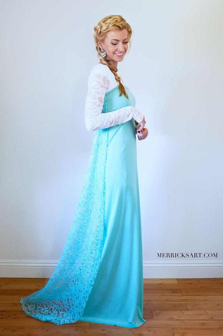 Easy DIY Elsa Halloween Costume || Merricksart.com