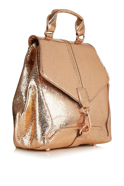 Agate rose gold backpack. #Topshop
