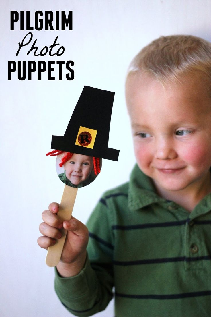Toddler Approved!: Pilgrim Photo Puppets