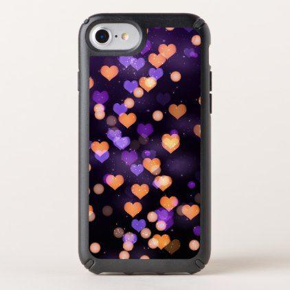 Falling hearts romantic background iphone case - chic design idea diy elegant beautiful stylish modern exclusive trendy