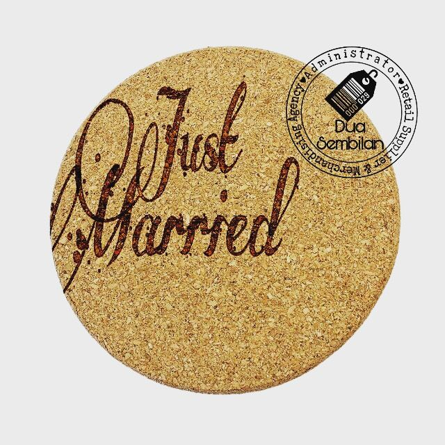 Cork Coasters | Round-Shaped Cork Coasters | Coasters for Glass & Mugs | Coasters for Wedding Tables | Inexpensive Wedding Items | Coasters for Bulk Purchases | Wedding Favour Coasters | Cork Coasters As Door Gifts | Singapore Malay Wedding Souvenirs | Berkat Kahwin | Light-Weight | Dua Sembilan | Duaa Sembilann