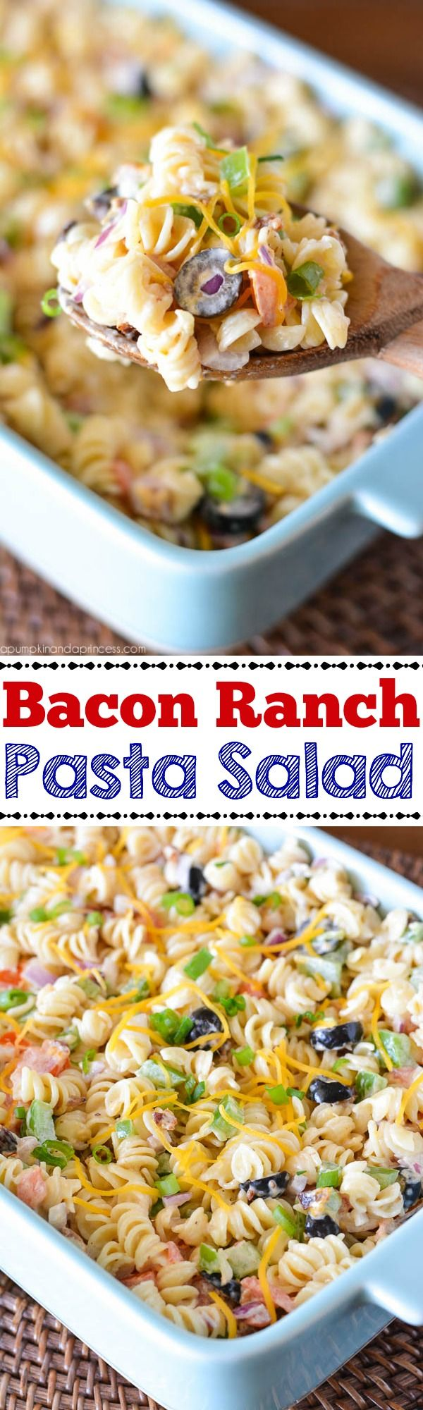 Bacon Ranch Pasta Salad recipe.