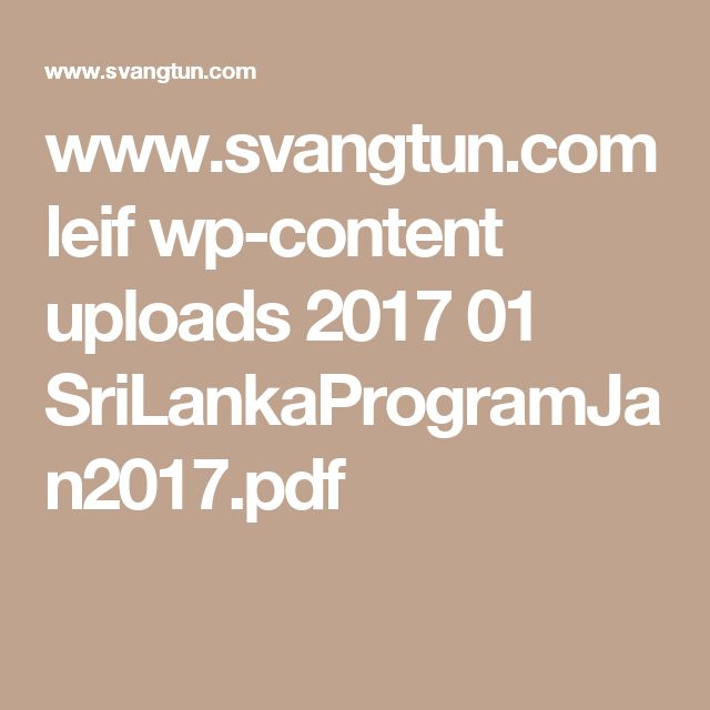 www.svangtun.com leif wp-content uploads 2017 01 SriLankaProgramJan2017.pdf