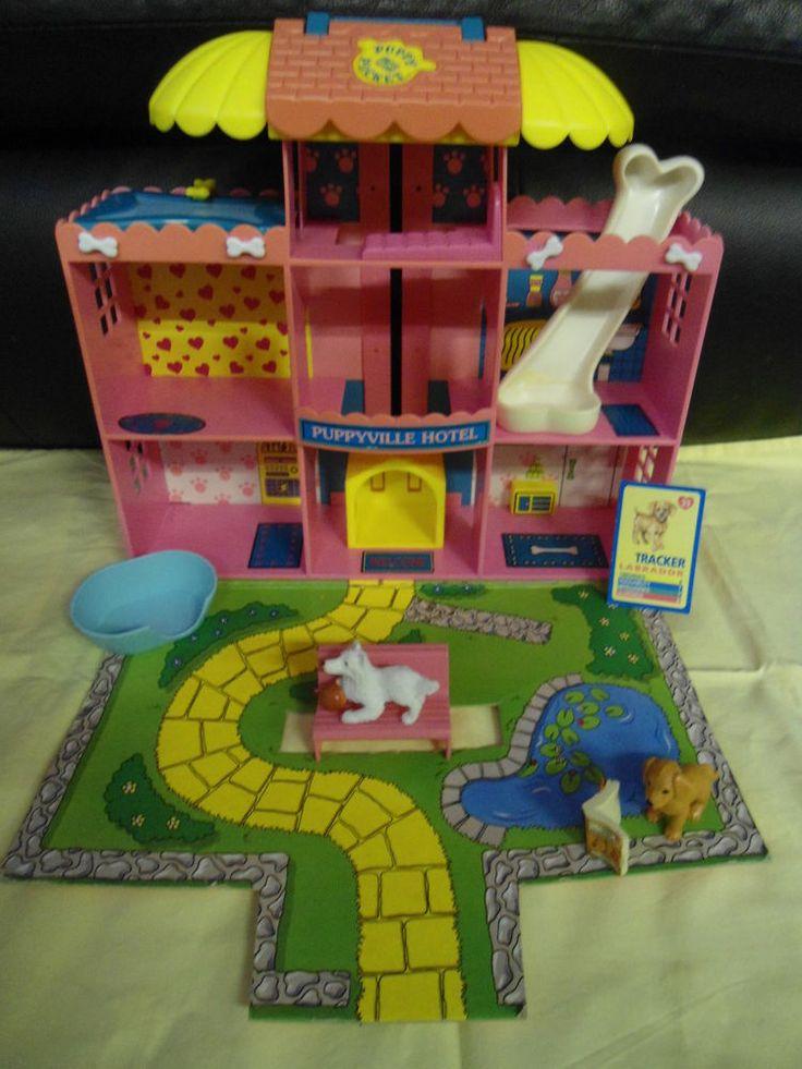 Original 1994 Vintage M.E.G. Puppy In My Pocket Hotel