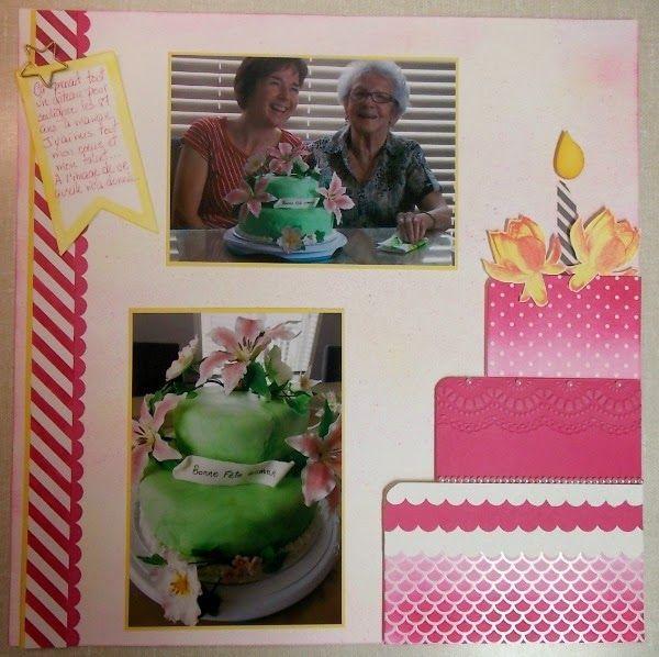Les créations d'Evelyne: Un beau gâteau