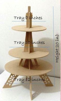 cupcake stand por craftszigzag en Etsy