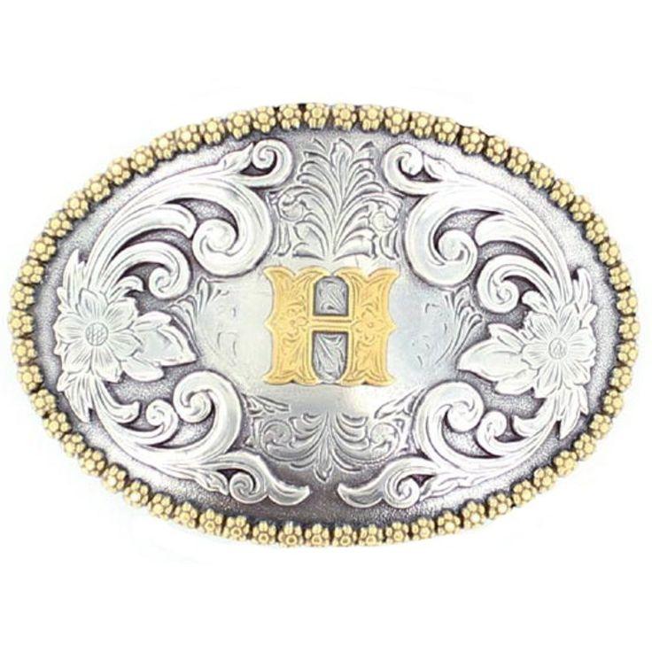 """Nocona """"H"""" Belt Buckle [37072-H]"""