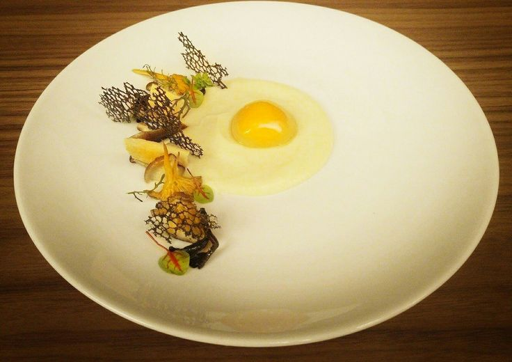 Wild mushrooms, parsnip puree egg yolk poached 🇬🇷