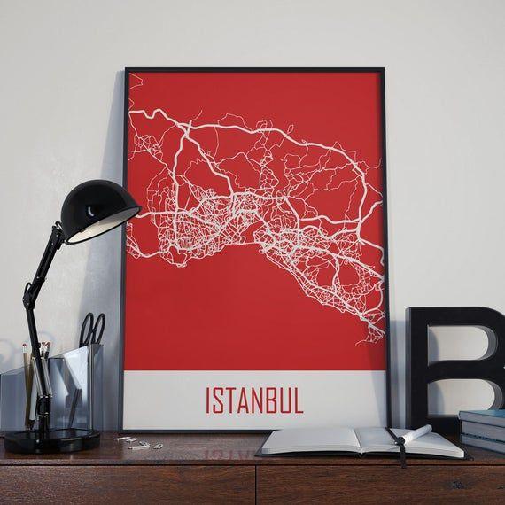 Istanbul Map Istanbul travel Map Istanbul Street Map Istanbul City Map Istanbul Poster Istanbul Photo Istanbul Print Istanbul Wall Art