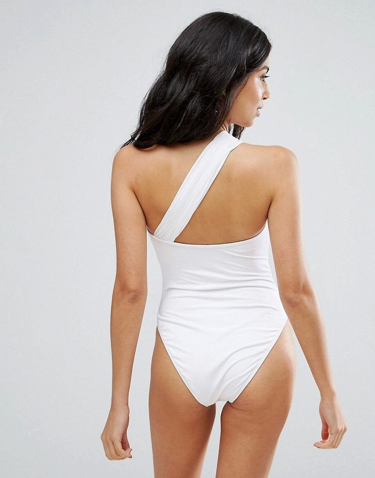 ASOS BRIDAL Body Bow Swimsuit - White