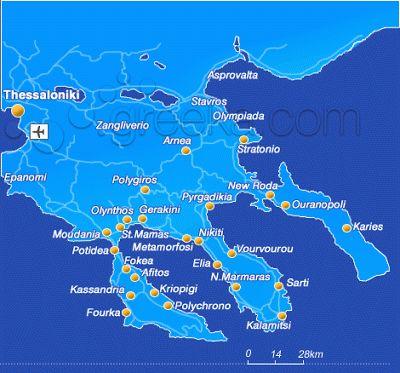 Halkidiki (Chalkidiki), Greece - Travel Guide and Travel Info
