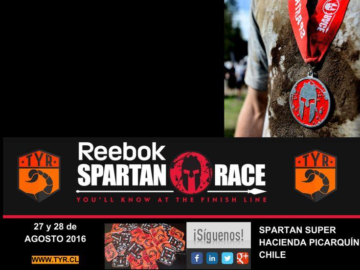 TYR presente el 27 y 28 de Agosto de 2016 en Spartan Super: 13+ km con más de 20 obstáculos SPARTAN SUPER HACIENDA PICARQUÍN CHILE ver http://spartanrace.cl/ ver http://tyrproducciones.com/eventos.html