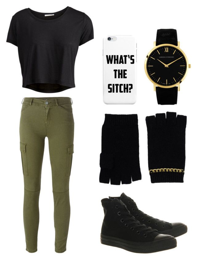 """Kim Possible Costume"" by lilli-cupcake on Polyvore featuring Pieces, Larsson & Jennings, MICHAEL Michael Kors, 7 For All Mankind and Converse"