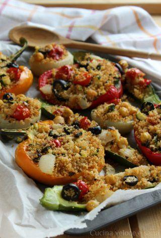 verdure farcite con cous cous