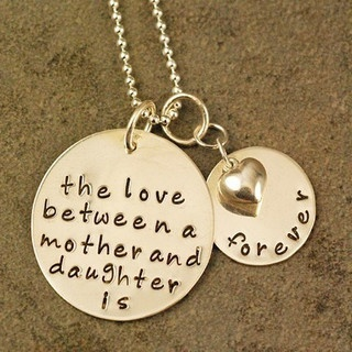 Mother Daughter Necklace by WISH PARTIES, via Flickr