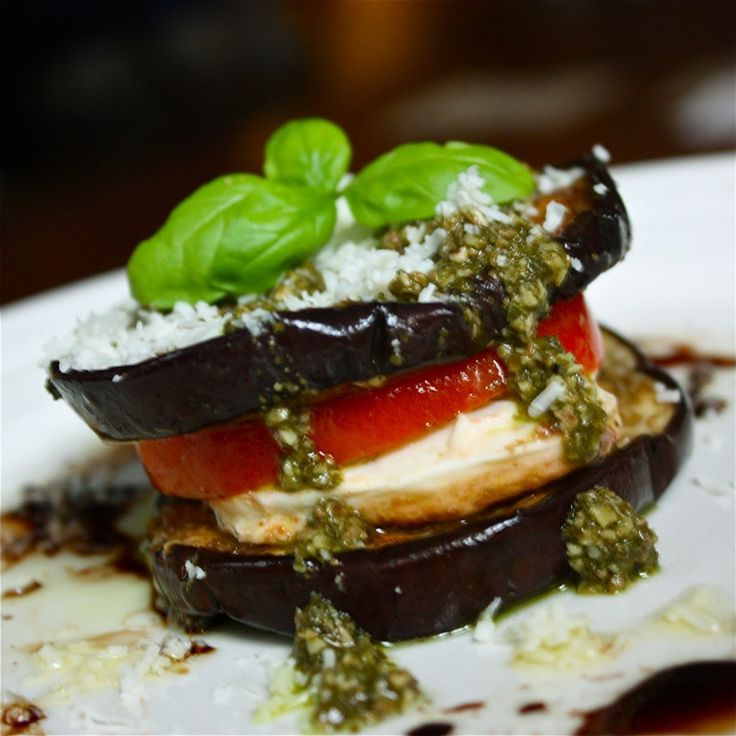 Eggplant Caprese Recipe | Sporty Afros Meals | Pinterest