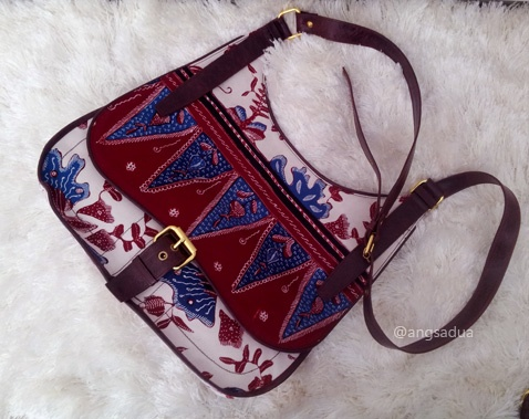 Unique Sling Bag, made with Indonesian Batik tulis