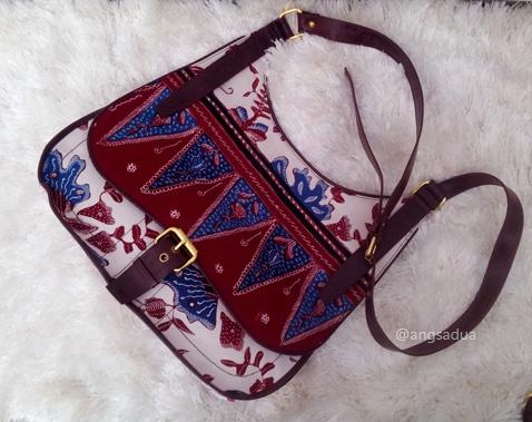 Unique Sling Bag, made with Indonesian Batik tulis