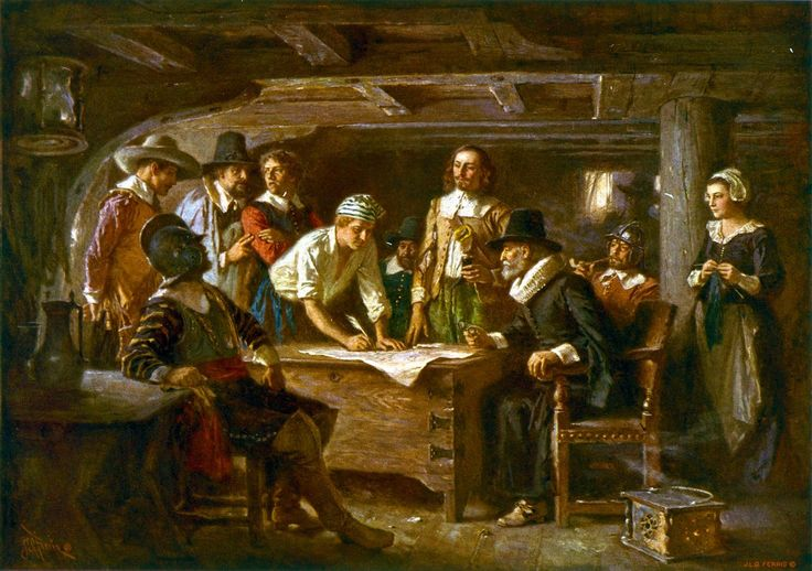 Mayflower Compact. The original Pilgrims were on a spiritual journey to find freedom to worship God and to create a new civilization under His guidance. Before disembarking the ship, they joined together in a covenant, later known as the Mayflower Compact. They understood solidarity and working for the common good were the keys to survive and preserve their community.   Picture found at…