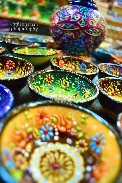Beautiful Turkish Pottery...I've just received 2 similar bowls as a gift and LOVE it!