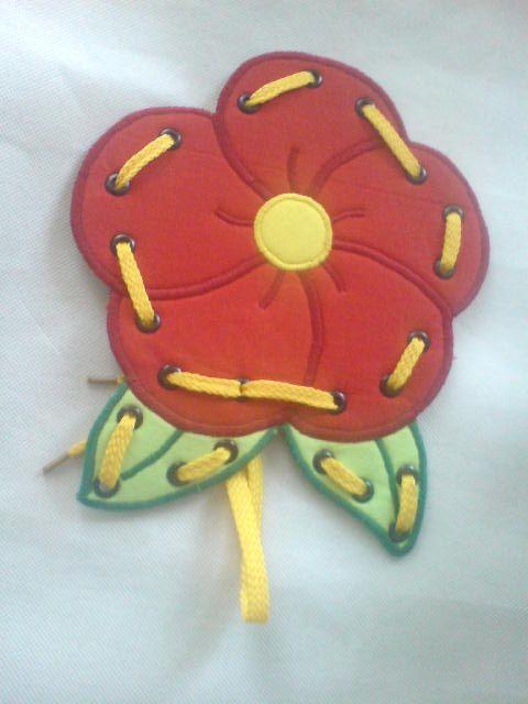 Fűzős játék -Virág