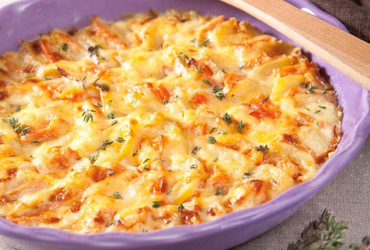 Kartoffel-Kürbis-Gratin   Rama Cremefine