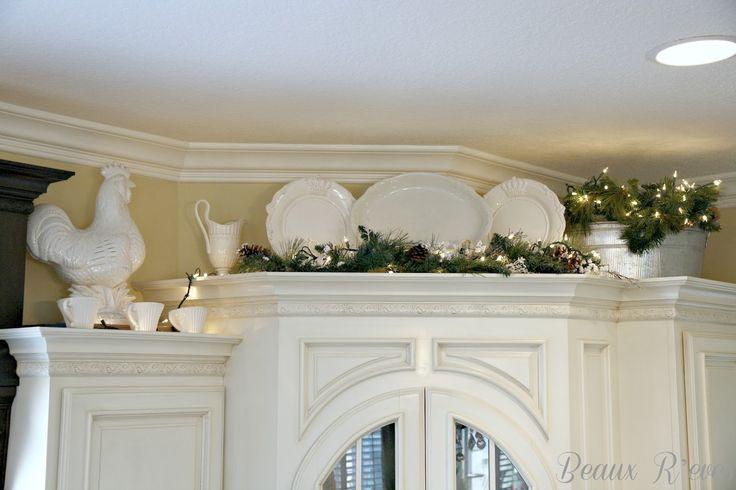Decorating Above Kitchen Cabinets Pinterest Decorating Top Of Kitchen Cabinets For Christmas Inspirational Image
