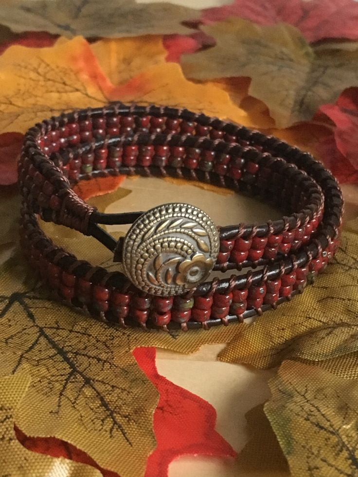 A personal favourite from my Etsy shop https://www.etsy.com/uk/listing/490175956/double-cuff-bracelet-in-red-czech-beads