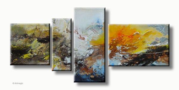 abstracte schilderijen berg landschap
