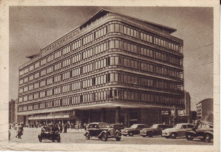 Poland Warszawa - Central Department Store 1959 mailed to Decatur IL postcard