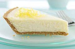 Lemon Cheesecake. So easy to make, my favorite recipe for cheesecake!  TIP: I double (well...better said triple) the amount of lemon juice and lemon zest and also I use Neufchatel sometimes and no difference! Everyone should try this recipe!!!!!