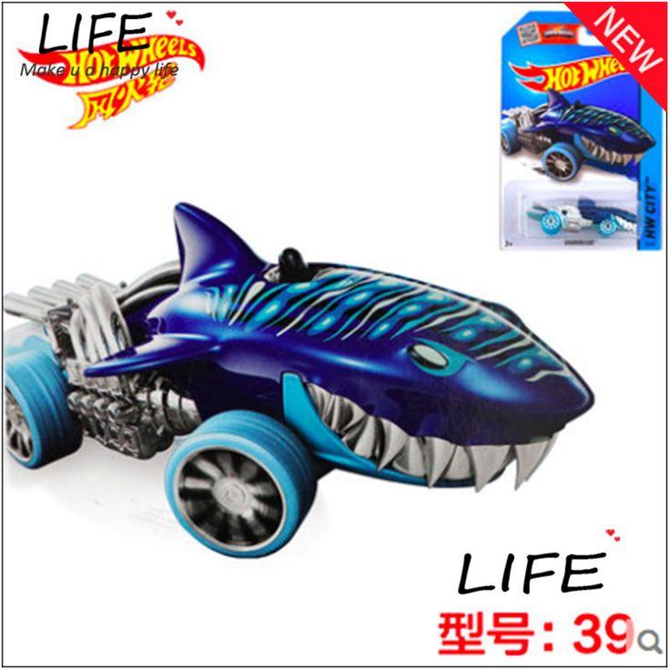 Vendita calda Cena Cool Shark Auto In Lega Modelli di Tipo Speciale All'ingrosso del Metallo Mini Auto Per Collecter Hot Wheels Shark 1:144