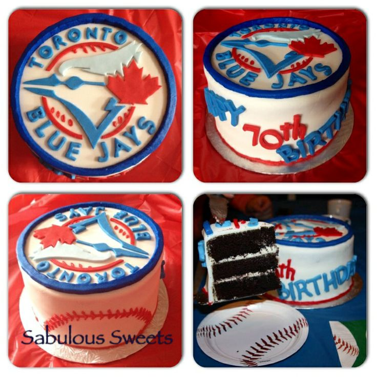 Blue Jays Cake Images : Toronto Blue Jays Birthday Cake Sabulous Sweets ...