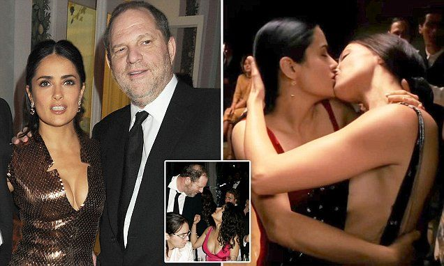 Salma Hayek reveals Harvey Weinstein endlessly stalked and propositioned her before forcing her to do a nude lesbian sex scene after she refused his advances - and once threatened to have her KILLED
