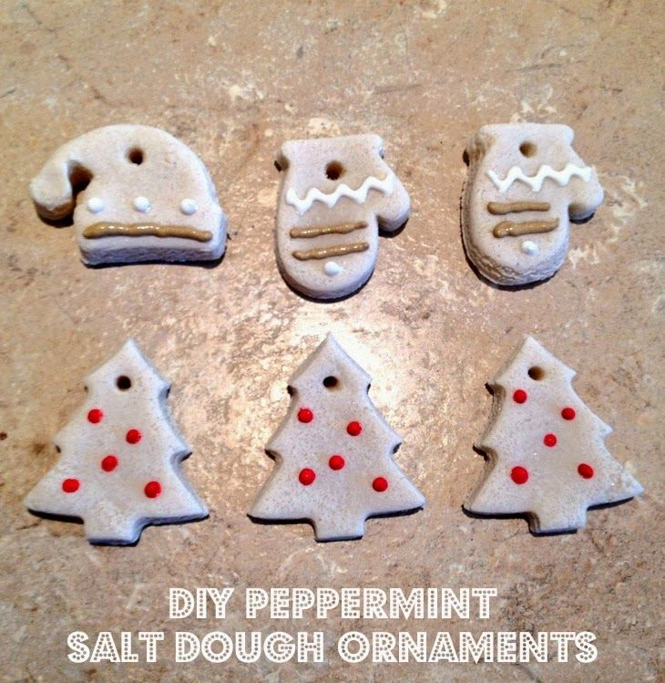 Sweet Stella's: DIY Homemade Peppermint Salt Dough Ornaments